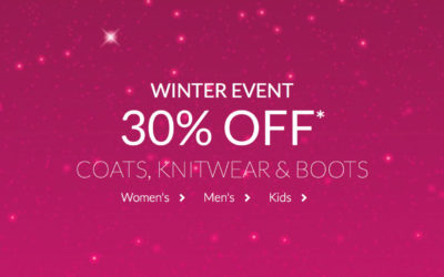 Debenhams Winter Sale Now On – 30% Off Knitwear, Coats, Boots