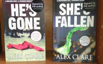 Crime Author Alex Clare Book Signing Waterstones